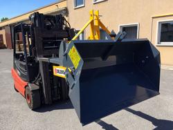 mechanische kippmulde 160cm breit schwere ausführung für gabelstapler mod prm 160 hm