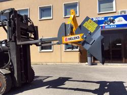 mechanische kippmulde 180cm breit schwere ausführung für gabelstapler mod prm 180 hm