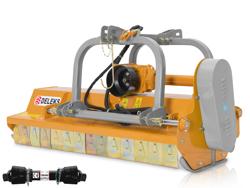 mittelschwerer mulcher mit hydraulische seitenverstellung für alle mittleren traktoren mit reifen oder gleisketten mod rino 200