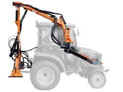 hydraulischer arm mit 130 hcm mähbalken mod falco 160 h