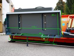 schneeschild für minibagger oder gabelstapler 250 cm mittelschwere ausführung mod ln 250 m