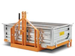 auskippbarer heckcontainer für traktoren mod t 1800