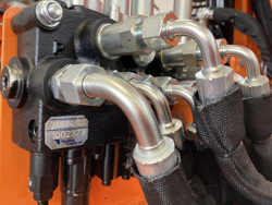 hydraulischer böschungsmulcher mit auslegearm für traktor mod airone 80