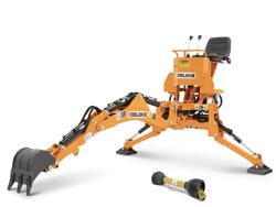 mini heckbagger für traktor inkl baggerlöffel mod drs 1000