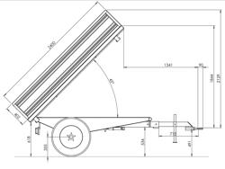 dreiseiten kippanhänger für traktoren mod rm 14 t3