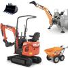 heckbagger und minibagger geeignet für traktoren deleks